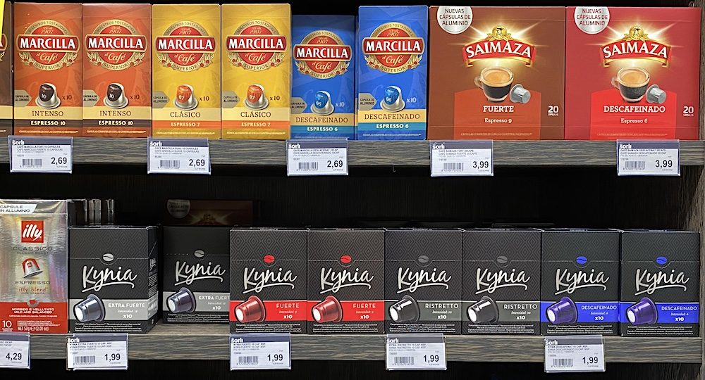 Cápsulas compatibles Nespresso Supermercado