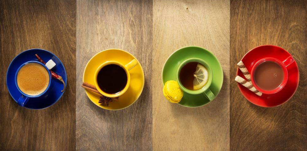 Tazas de café y otras bebidas